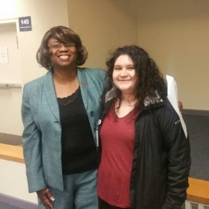 Hazel Robinson and HU Student Candy Martinez