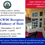 HUAC GWDC Reception at the Embassy of Haiti