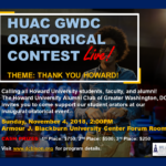 HUAC GWDC Inaugural Oratorical Contest